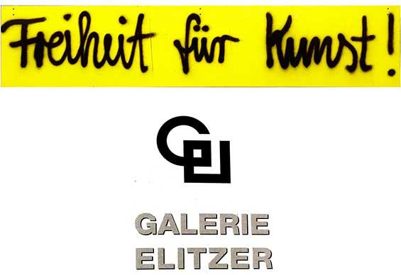 Der Bananensprayer Thomas Baumgärtel Markiert Galerien Und